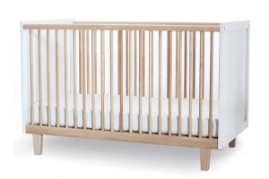 Oeuf Rhea Crib in Birch & White